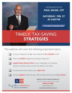 Free webinar about tax-saving strategies by Paul Kalra